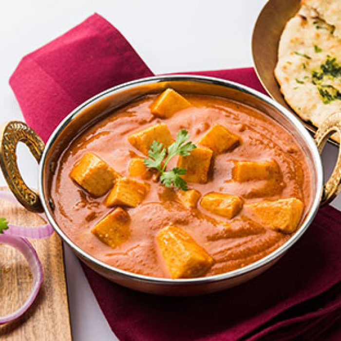 Vegetarian-Butter masala cheese cottage curry